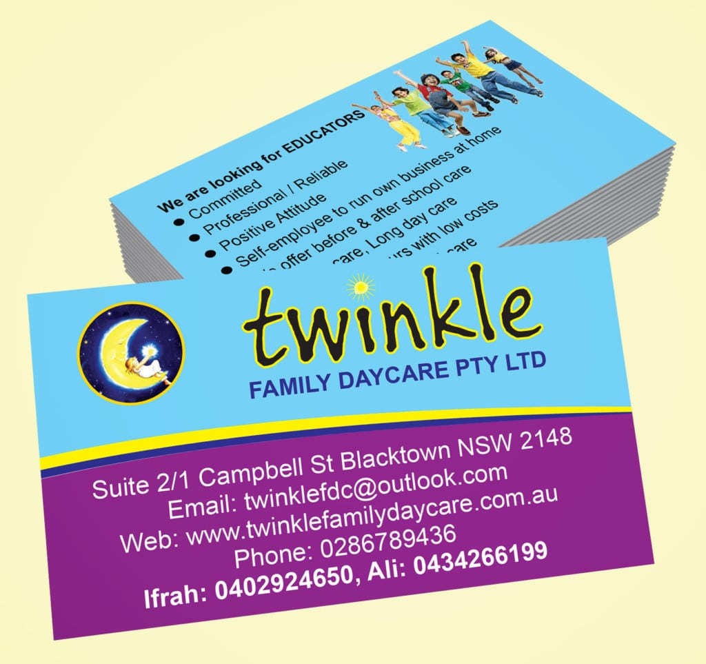 Twinkle family day care vance graphix print reheart Images